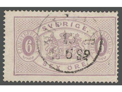 1874, 6 Ö služební, MiNr.4A, razítkované