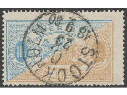 1874, 1 Kr služební, MiNr.11A, razítkované