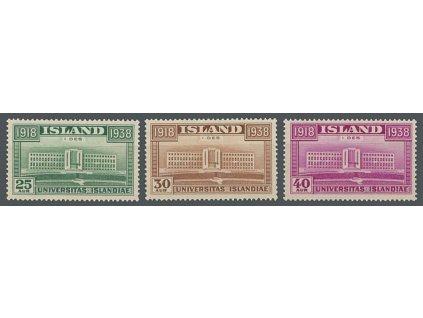 1938, 25-40A série Universita, MiNr.200-202, **/*