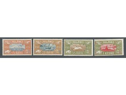 1930, 15A-1Kr letecká série, chybí 50A, MiNr.142-44,146, **/*