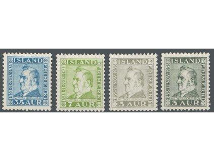 1935, 3-35A série Jochumsson, MiNr.183-86, */**