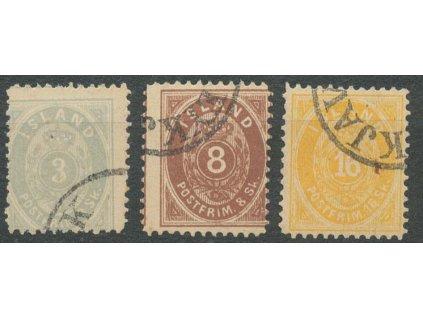 1873, 3, 8 a 16Sk falza, MiNr.2,4,5, razítkované, dv