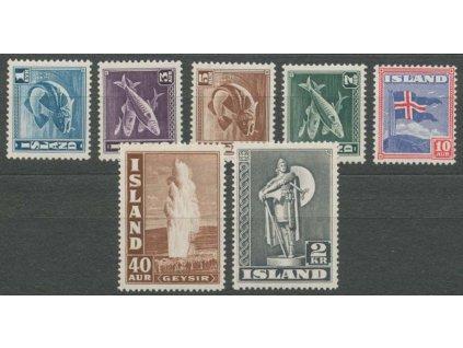 1939, 1E-2Kr série Motivy, MiNr.208-14, **