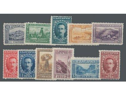1921/22, 10St-10L série, MiNr.156-65, 166, **