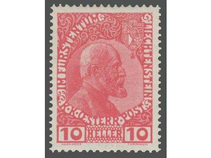 1912, 10 H Johann, MiNr.2, * po nálepce