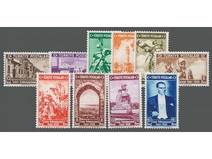 1938, 10Pa-12 1/2K série Veletrh, MiNr.1019-28, **
