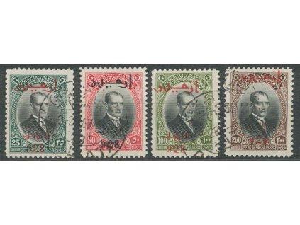 1928, 25-200 Ghr koncové hodnoty série, MiNr.878-81, razítko