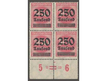 1923, 250 Tsd/500 M, 4blok, HAN H=.23, MiNr.295, **/* , fald