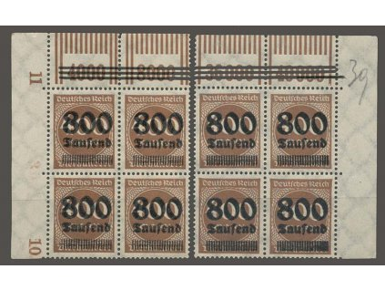 1923, 800 Tsd/400 M, 4bloky, přetisk Breslau, München), **/*