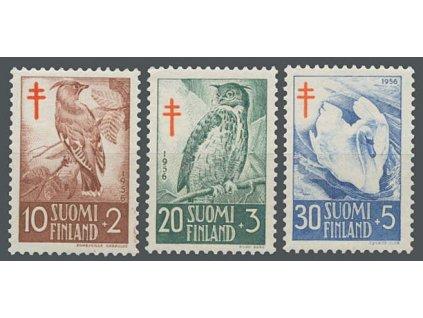 1956, 10-30M série Fauna, MiNr.461-63, **