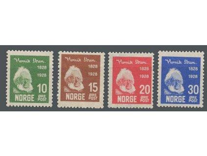 1928, 10-30Q série Ibsen, MiNr.137-40, **