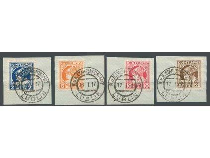 Společné vydání, 1916, 2-20H série, výstřižky, MiNr.49-52