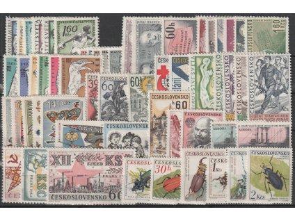 1962, kompletní ročník výplatních známek, **, ilustrační foto