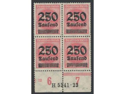 1923, 250 Tsd/500 M, 4blok, HAN H 5341.23, MiNr.295, **