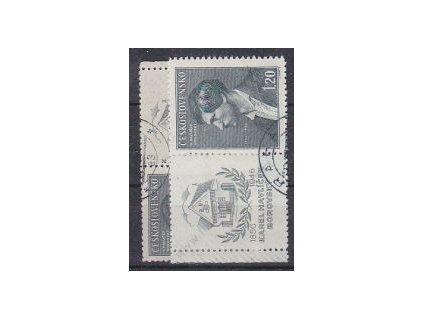 1946, 1.20Kčs Borovský, L+P kupon, Nr.436, raz.