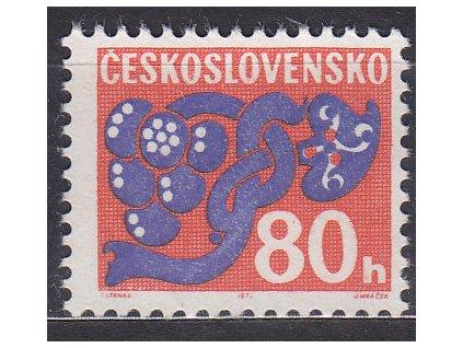 1971, 80h Doplatní, papír oz, Nr.D96xb, **