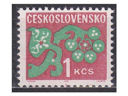 1971, 1Kčs Doplatní, papír oz, Nr.D97xb, **