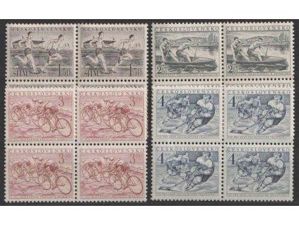 1952, 1.50-4Kčs série Tělovýchova, 4bloky, Nr.673-76, **