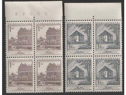 1953, 1.50-4Kčs série Z.Nejedlý, 4bloky, Nr.702-3, **