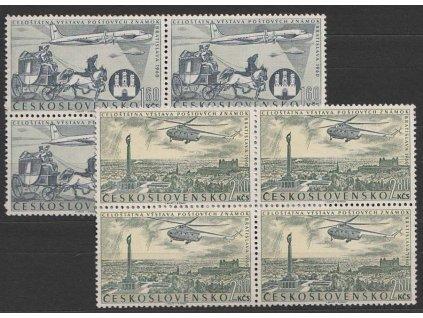 1960, 1.60-2.80Kčs letecká série, 4bloky, Nr.L46-47, **