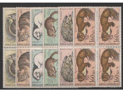 1967, 30h-1.60Kčs série Zvířena, 4bloky, Nr.1637-42, **