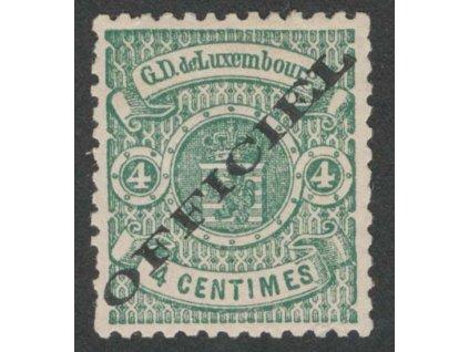 1875, 4 C služební, MiNr.12I, těžká *