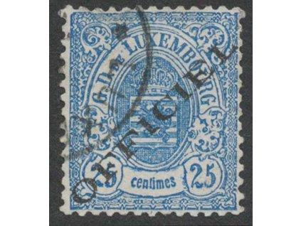 1875, 25 C služební, MiNr.16I, razítkované