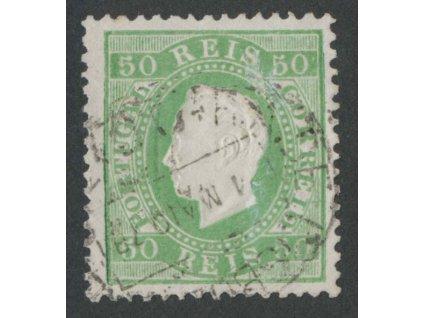 1870, 50 R Luis, MiNr.39xB, razítkované