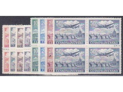 1.50-50Kčs Letecké, 4bloky, Nr.L17-24, **