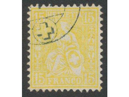 1867, 15 C Helvetia, MiNr.31, razítkované