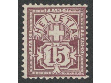 1882, 15 C Znak, MiNr.57, **