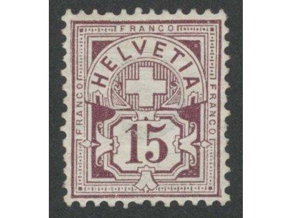 1882, 15 C Znak, MiNr.57, * po nálepce, lehký lom, dv