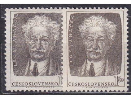 1.60Kčs Janáček, hnědá a šedohnědá, Nr.739a,b, * po nálepce