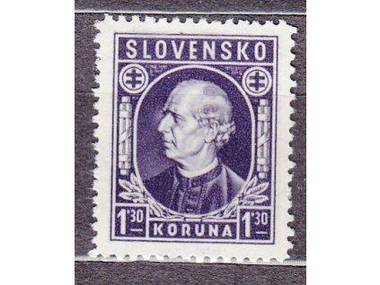 1942, 1.30Ks Hlinka, Nr.33, **, ilustrační foto