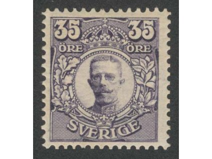 1911, 35 Ö Gustaf, MiNr.78, * po nálepce