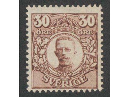 1911, 30 Ö Gustaf, MiNr.77, * po nálepce