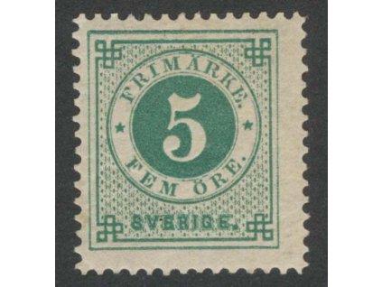 1886, 5 Ö zelená, MiNr.32, * po nálepce