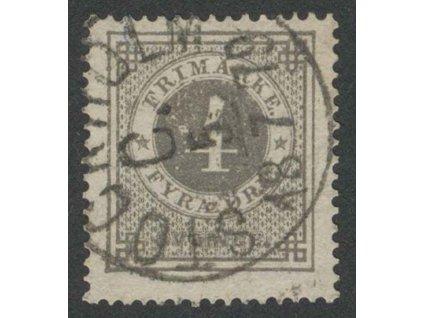 1872, 4 Ö šedá, MiNr.18A, razítkované