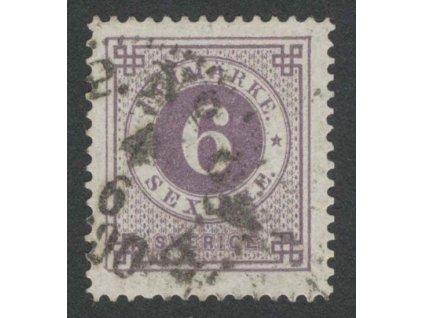 1886, 6 Ö fialová, MiNr.33, razítkované