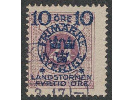 1916, 10 Ö + 40 Ö / 24 Ö fialová, MiNr.103, razítkované