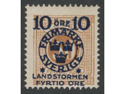 1916, 10 Ö + 40 Ö / 50 Ö hnědá, MiNr.105, * po nálepce