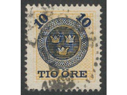 1889, 10 Ö / 24 Ö žlutá, MiNr.40, razítkované