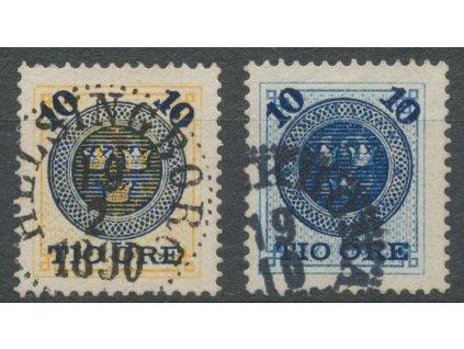 1889, 10 Ö / 12 Ö - 10 Ö / 24 Ö série, MiNr.39-40, razítkované