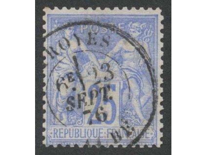 1876, 25 C Alegorie, MiNr.63I, razítkované, lom v růžku