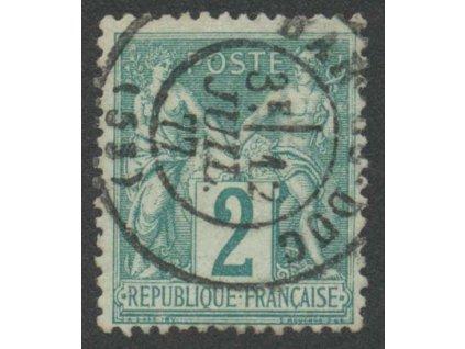 1876, 2 C Alegorie, MiNr.57II, razítkované