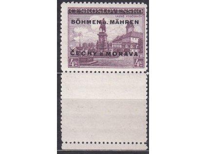 4Kč Poděbrady, dolní kupon, Nr.17K, * po nálepce