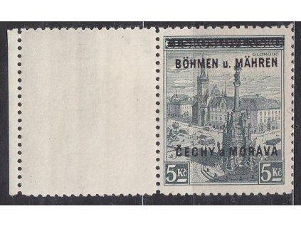 1939, 5Kč Olomouc, levý kupon, Nr.18, * po nálepce