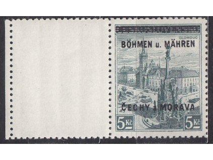 1939, 5Kč Olomouc, levý kupon, Nr.18, **