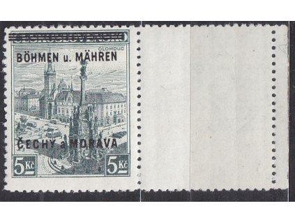 1939, 5Kč Olomouc, pravý kupon, Nr.18, **