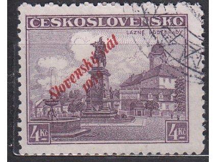 1939, 4Kč Poděbrady, Nr.20, razítkované